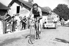 """Hugo Koblet """"Pedaler of Charme"""" (1925-1964, Sui) - Winner Tour de France 1951"""