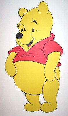 Pooh - Feito de cartolina. By Rose Mourão.