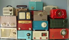 Lovely stacked old radios