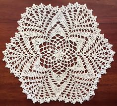 "This doily is 19 rounds and measures about 10"".  There are instructions for a picot border or an alternate border.  A third border sty..."