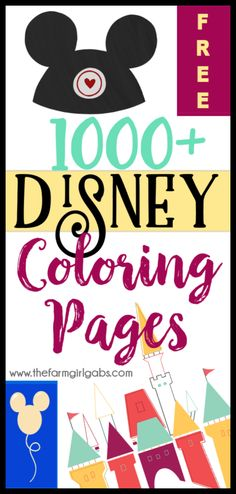 Need a fun activity for the kids Grab some crayons and have fun coloring these FREE 1000 Free Disney Coloring Pages This massive collection of Disney Coloring pages has a. Free Disney Coloring Pages, Mickey Mouse Coloring Pages, Princess Coloring Pages, Coloring Pages For Kids, Coloring Book, Kids Coloring, Coloring Sheets, Adult Coloring, Disney Colors
