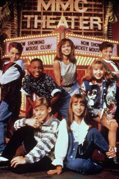 Britney Spears, Christina Aguilera, Ryan Gosling and Justin Timberlake courtesy of the Mickey Mouse Club, 1989