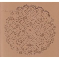 Centrino con fiorellini n. 122 - Il Giardino dei Punti, Circolo di ricami, pizzi e decori