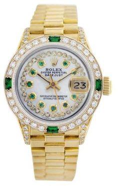 Rolex Datejust 6917 18K Gold Diamond Dial/Diamond Bezel 26mm Womens Watch