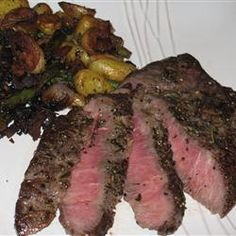 Perfect Flat Iron Steak - Just made this for dinner and it is REALLY good!  Kroger has flat iron steak on sale this week so looked up a recipe and found a winner :)