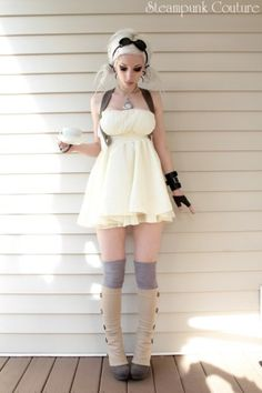 Babydoll/goth/steampunk. Hot. Would be hotter with thigh highs.