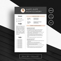Creative Resume Template CV Template Design Modern Ideas Inspiration Inspo Lebenslauf Professional CV!