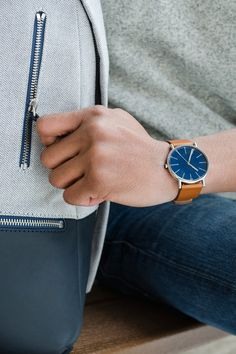 True blue essentials for spring. Shop the new Signatur watch here.