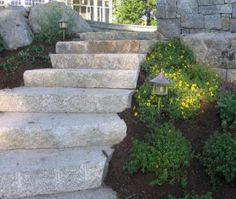 granite steps might be nice for the hill from the driveway to the hill? #hardscape