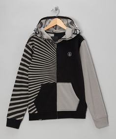 Take a look at this Black Megla Full Face Zip-Up Hoodie - Boys by Volcom on #zulily today!