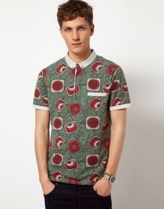 Cashing in on The Print: Asos Men's African Print Polo Shirt African Wear Styles For Men, African Dresses For Kids, African Print Fashion, African Outfits, African Style, African Print Shirt, African Shirts, Wedding Suit Styles, Dashiki For Men