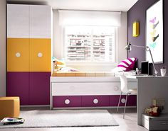 Modern Rimobel Mundo Joven Bed, Desk and Wardrobe Composition