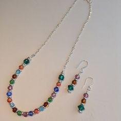 Meadow  necklace and earring set Venetian by ScarletMareStudio, $85.00