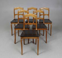 6 Biedermeier - Empire Bauernstühle Stühle - Kiefer   Birke Kiefer, Empire, Dining Chairs, Furniture, Ebay, Home Decor, Birch, Dinner Chairs, Homemade Home Decor