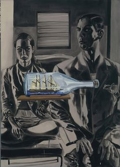"PAINTING UNIT:  David Salle - portion of painting ""Pepper's Ghost"" (1995)"