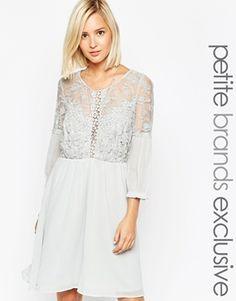 Vero Moda Petite Embroidered Skater Dress