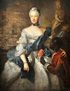 1750 Antoine Pesne (1683-1757) Portrait of Karoline von Pfalz-Zweibrücken (1721-1774)