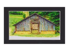 Country Barn, Ready to Frame, 4x6 art print $12.00