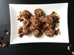 Cranberry Date Walnut Protein Balls   One Green Planet
