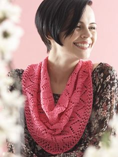 Free Pattern - Knit one of two options - a scarf or a shawl - in this beautiful lace leaf pattern. #shawl #chevron #leaves #knit