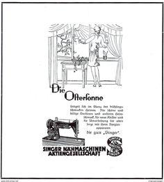 Original-Werbung/ Anzeige 1929 - OSTERN / SINGER NÄHMASCHINEN - Ca.200 X 220 Mm - Werbung