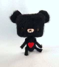 Miniature Anime Artist Teddy Bear - Smokes