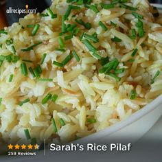 "Sarah's Rice Pilaf | ""I love this recipe. It is so simple and tasty. I make it a couple of times a month. I do add some salt with the broth, but other than that, I follow the recipe exactly."""