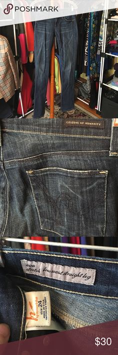 """💗Citizens of Humanity 24""""x32"""" GUC CoH jeans. Great stretch. Minor drag damage. Ava Stretch/Low Waist/Straight Leg. 24""""x32"""". Citizens of Humanity Jeans Straight Leg"""