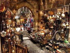 A real Aladdin's cave - but be prepared to haggle hard! Khan el Khalili Bazaar, Cairo, Egypt.