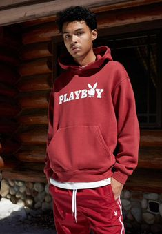 PacSun Exclusive! Your favorite collab is back with a fresh collection for your everyday style. The Playboy By PacSun Logo Hoodie features a soft fleece construction and a reimagined brand graphic on the front.