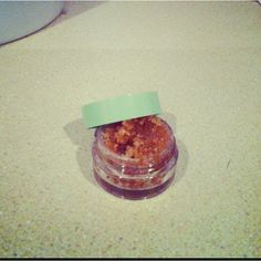 DIY sugar scrub for lips: 1tsp brown sugar, 1tsp granulate sugar, 1 and a 1/2tsp equal parts olive oil and vanilla. Mix in bowl and scrub on. Rinse for smooth, kissable lips!