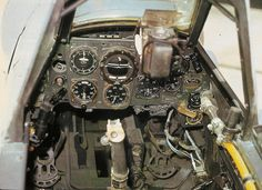 Bf 109 cockpit. Note position of gunsight.