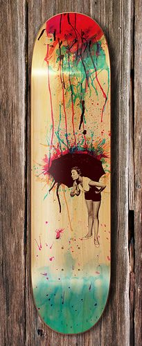 colorblind deck by mathiole, via Flickr - I think I might need a custom painted longboard...