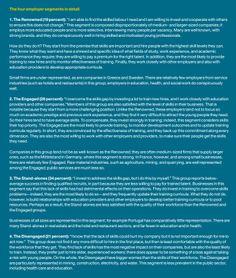 """Segmentering Werkgevers die Investeren in hun Medewerkers en hun procentuele verdeling in beeld. McKinsey komt met het rapport """"Education to Employment: Getting Europe's Youth into Work"""". Eén van de aandachtspunten is de investering in medewerkers door (potentiële) werkgevers. Klik op de pin voor de entry. Bron pin: McKinsey.com"""
