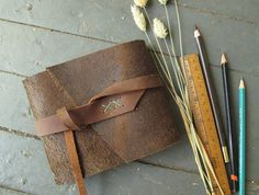 Soft brown leather journal by Quill and Arrow Press. Handmade Books, Handmade Gifts, Leather Books, Leather Journal, Leather Cover, Quilling, Arrow, Brown Leather, Trending Outfits