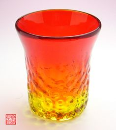 Ryukyu Glass Okinawa Kogei Mura 4 inch Wavy red, can buy direct from Japan.
