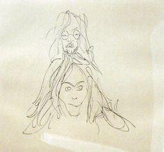 John Lennon - John and Yoko signed sketch
