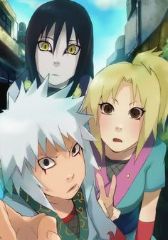 Awn three legendary Sannin but child mode! Awww