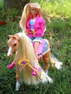 Camp Barbie with her Sprint Horse :-) by illina86, via Flickr