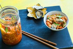 Quick kimchi (ready to eat in 2 hours!) - listen to our audio recipe. Side Recipes, Snack Recipes, Cooking Recipes, Good Protein Snacks, Quick Kimchi, Sbs Food, Food Food, Kimchi Recipe, Fermented Foods