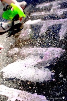 Sidewalk chalk recipe with a fizz