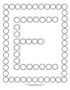 Children's activity and craft templates. Preschool Learning Activities, Baby Learning, Alphabet Activities, Preschool Worksheets, Alphabet For Kids, Alphabet Book, Alphabet Tracing Worksheets, Early Childhood Activities, Do A Dot