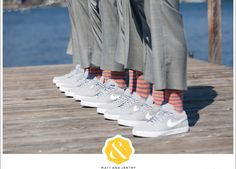Make your groomsmen comfortable and happy in these grey Nike wedding shoes!