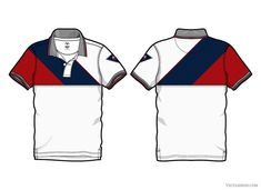 Men White Sport Polo Shirt Graphics A sport polo neck shirt design with diagonal panels above chest line. This polo shirt design has an by VecFashion Sport Shirt Design, Polo Design, Sport T Shirt, Design Design, Polo Shirt Style, Polo Shirt Outfits, Sports Polo Shirts, Polo Rugby Shirt, Camisa Polo