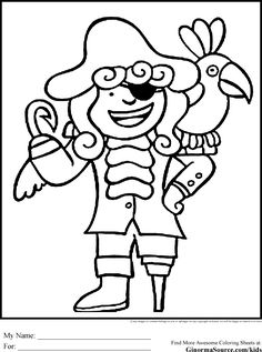 Pirate Coloring Pages Hook