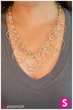 We love this necklace! Paparazzi has offered this in all kinds of metal finishes! this golden hue is gorgeous!