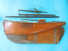 Very Early and Unusual Pond Model Boat Cutter c1800s