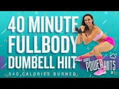 - 40 Minute Full Body HIIT Workout with Dumbbells!Sydney Cummings - 40 Minute Full Body HIIT Workout with Dumbbells! Interval Training Workouts, Full Body Hiit Workout, Dumbbell Workout, Strength Workout, Circuit Workouts, Kettlebell Training, Workout Routines, Strength Training, Murph Workout