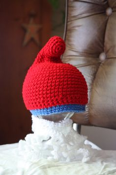 Crochet Smurf Hat and Beard