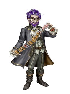 m Gnome Rogue Arcane Trickster Cleric of Nivi Rhombodazzle multi-class Lt Armor Cloak Cards urban City Traveler Male - Pathfinder PFRPG DND D&D ed Fantasy Grounds Pathfinder Character, Pathfinder Rpg, Fantasy Races, Fantasy Rpg, Character Concept, Character Art, Character Inspiration, Dnd Characters, Fantasy Characters
